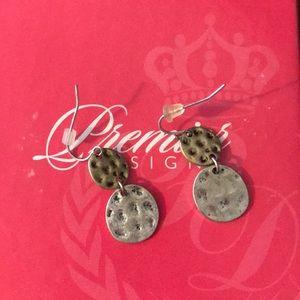 Dual metal hook earrings
